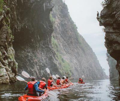 Kayaking Storms River Gorge