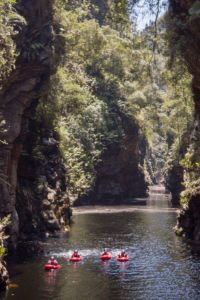 Tubing up storms river gorge