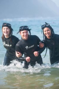 Snorkelling at storms river mouth