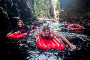 Kayak and lilo halfday adventures up the Storms River